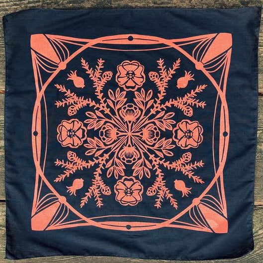 nootka rose and western hemlock altar cloth