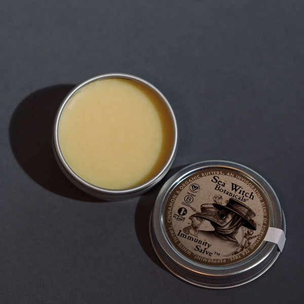 Immunity Salve from Sea Witch Botanicals. Inspired by plague doctors of the black plague.