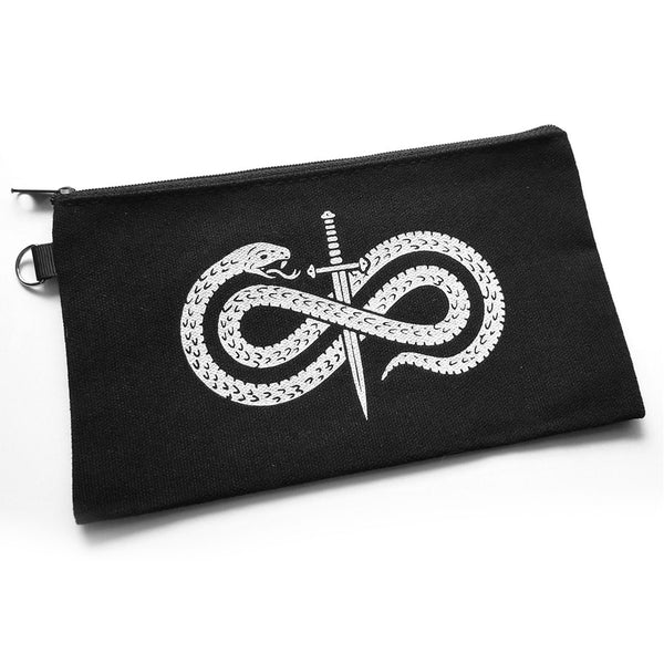 Snake and dagger stash pouch