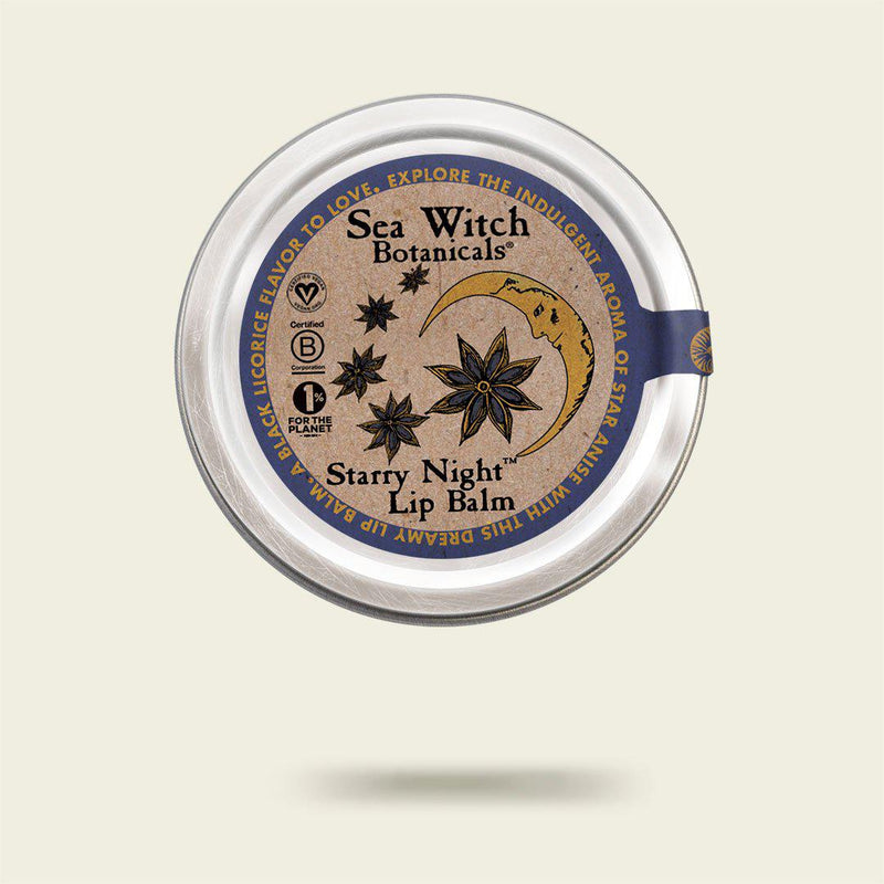 Starry Night lip balm with Star Anise from Sea Witch Botanicals