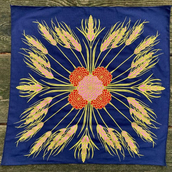 wheat and strawflower altar cloth