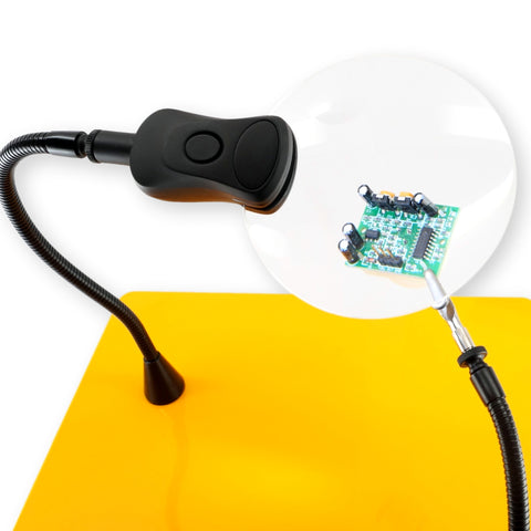 QuadHands LED 3x Magnifier