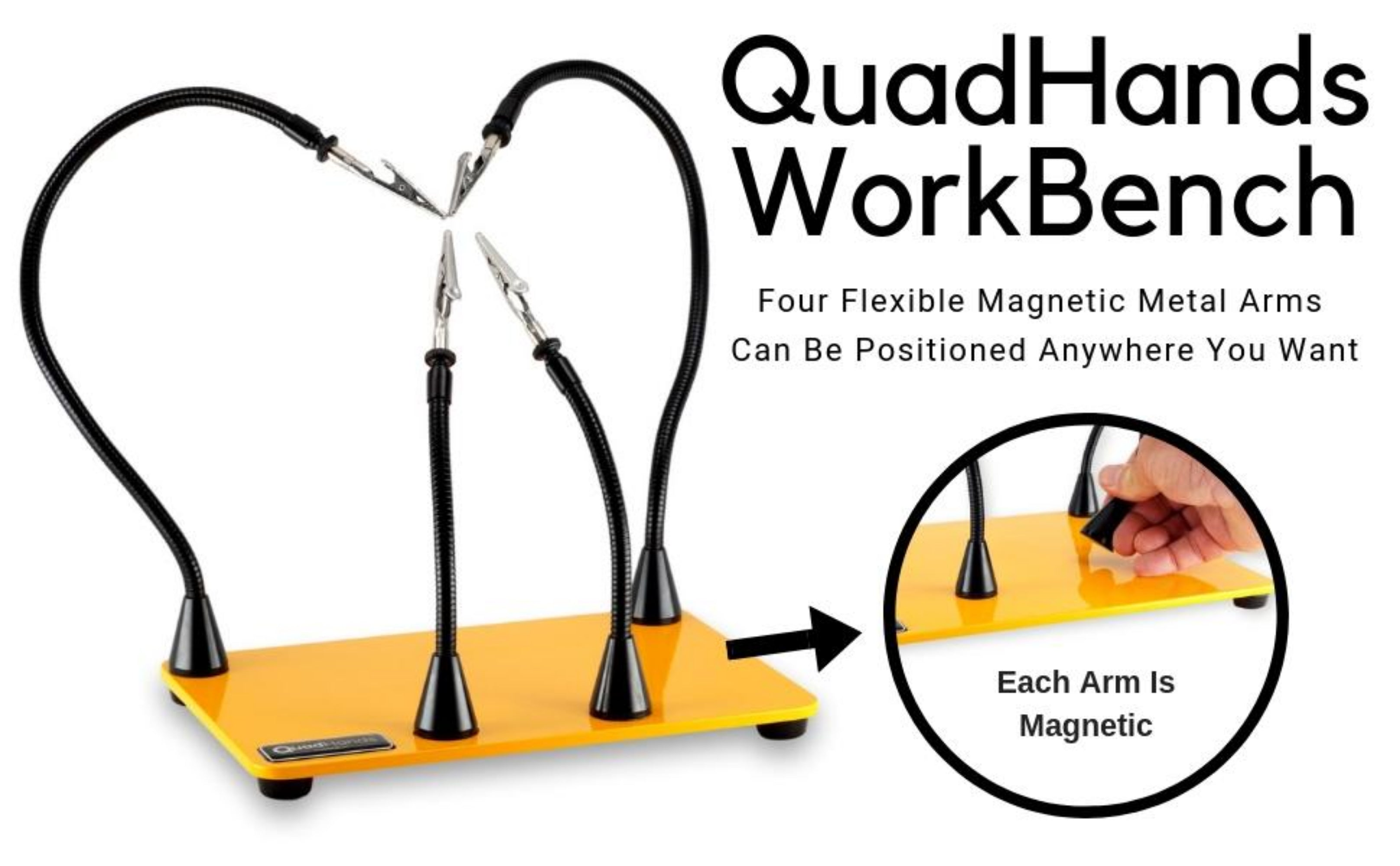 QuadHands Magnetic WorkBench Helping Hands Third Hands Tool - Our Most  Popular Design!