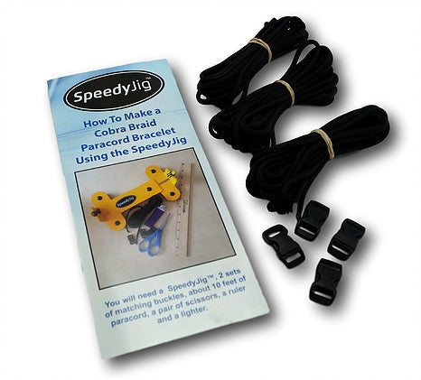 SpeedyJig Pro Paracord Bracelet Jig Kit Solid Steel Construction Fun and Easy Way to Weave Bracelets from 4 to over 12
