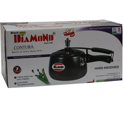 Diamond Pressure cooker Black 3ltr