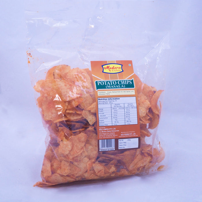 Modern Kitchen Plain Potato Chips 200gm