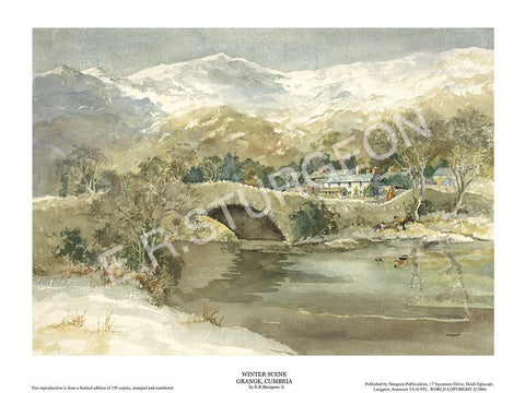 Winter Scene - Grange, Cumbria
