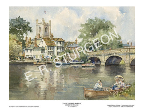 Lazing About on the River, Henley on Thames, Oxford