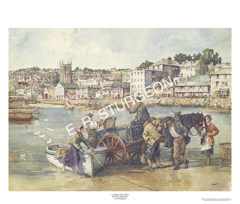Landing the Catch - St Ives, Cornwall