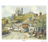 Corfe Village and Castle, Dorset