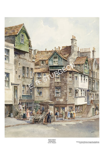 High Street, (John Knox's House), Edinburgh, Scotland