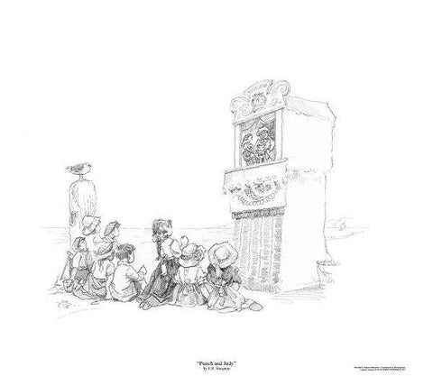 Punch and Judy - Pencil Drawing