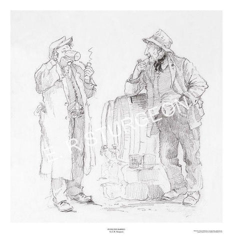 Over the Barrel - Pencil Drawing