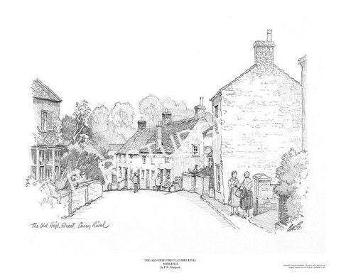 Old High Street, Curry Rivel, Somerset - Pencil Drawing