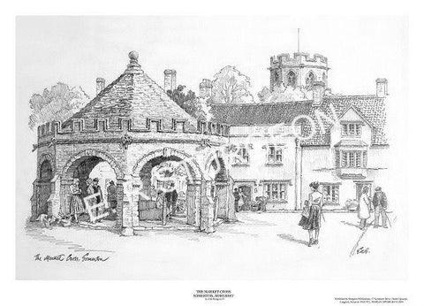 Market Cross, Somerton, Somerset - Pencil Drawing