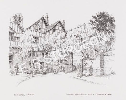 Winchester, Hampshire - Pencil Drawing