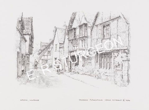 Lacock, Wiltshire - Pencil Drawing