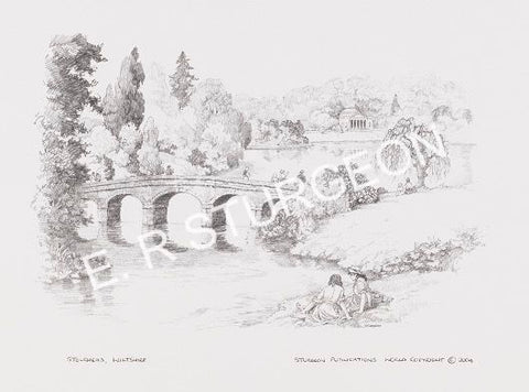 Stourhead, Wiltshire - Pencil Drawing