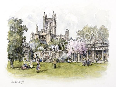 Bath Abbey, Somerset - Hand Tinted