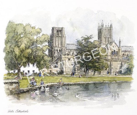 Wells Cathedral - Hand Tinted