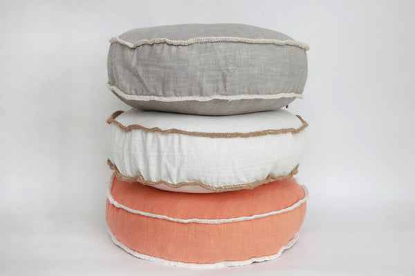 Alfajor Linen Cushion - Grey
