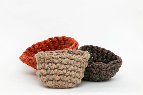 Woven Jute Bowl - Natural (Small)