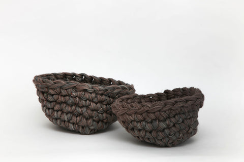 Woven Jute Bowl - Charcoal (Medium)