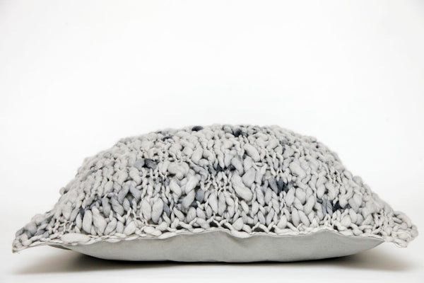Flame Cushion - Grey