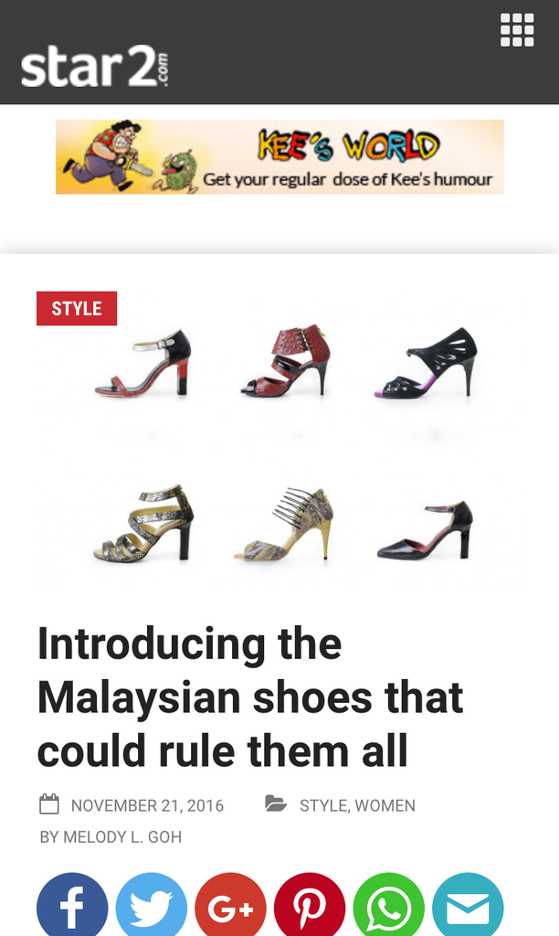 The STAR Press : Introducing the Malaysian shoes that could rule them all