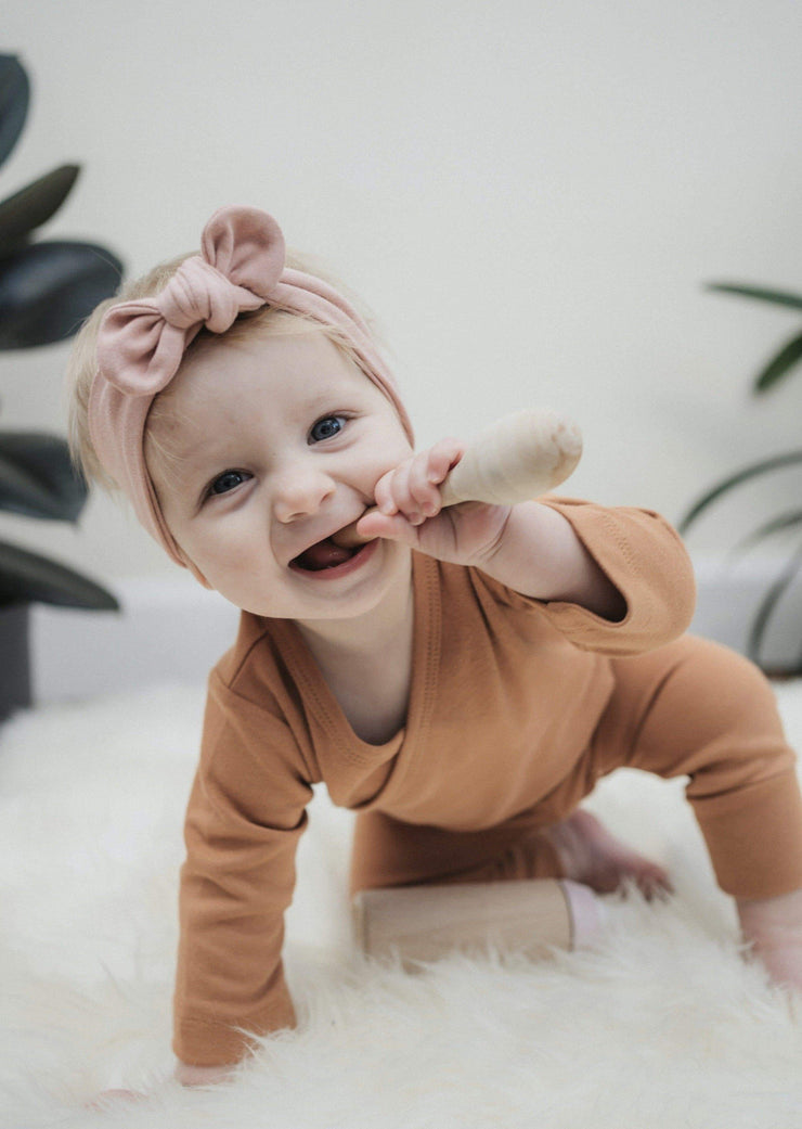 Organic cotton baby clothes rust