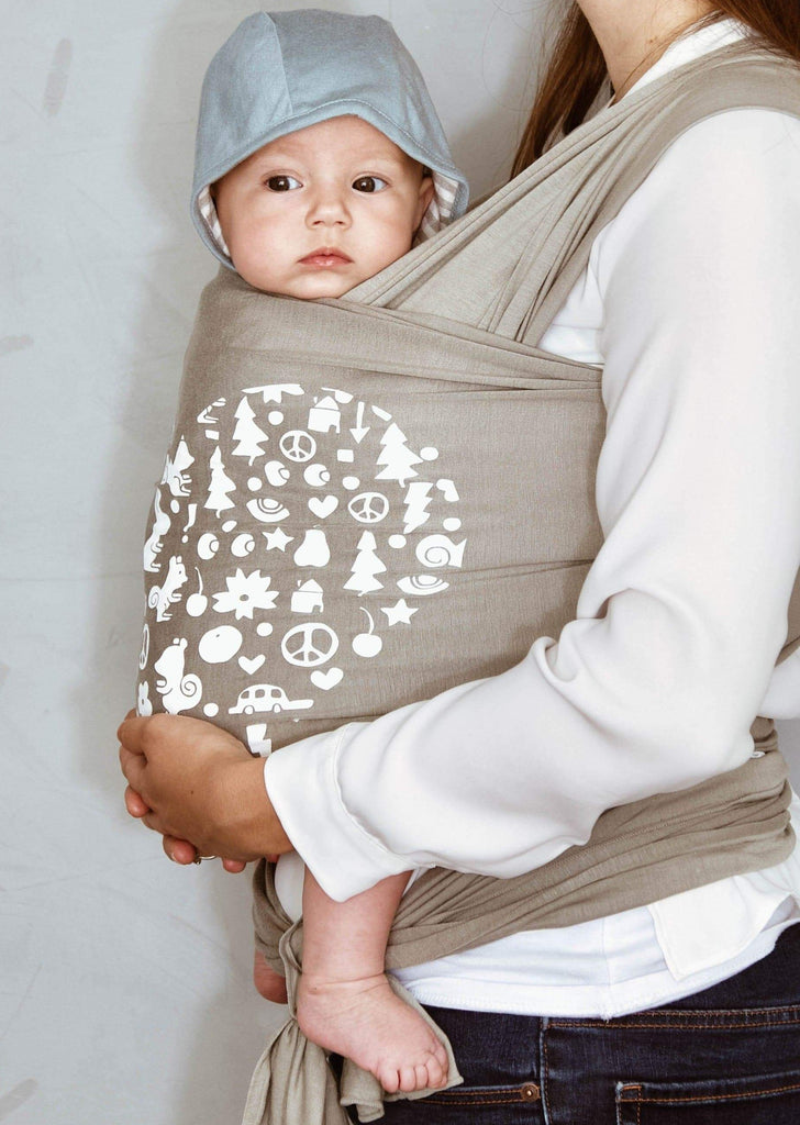Matthew Langille, print, printed, grey, dove, Fornessi wrap, modal, Fornessi, baby wrap, wrap carrier, baby sling, sling carrier, fabric wrap, fabric baby carrier, stylish, safe, practical, hip safe, baby accessory, baby carrier, baby accessories, accessories, baby, modal, soft, comfortable, the best baby wrap, the best baby carrier