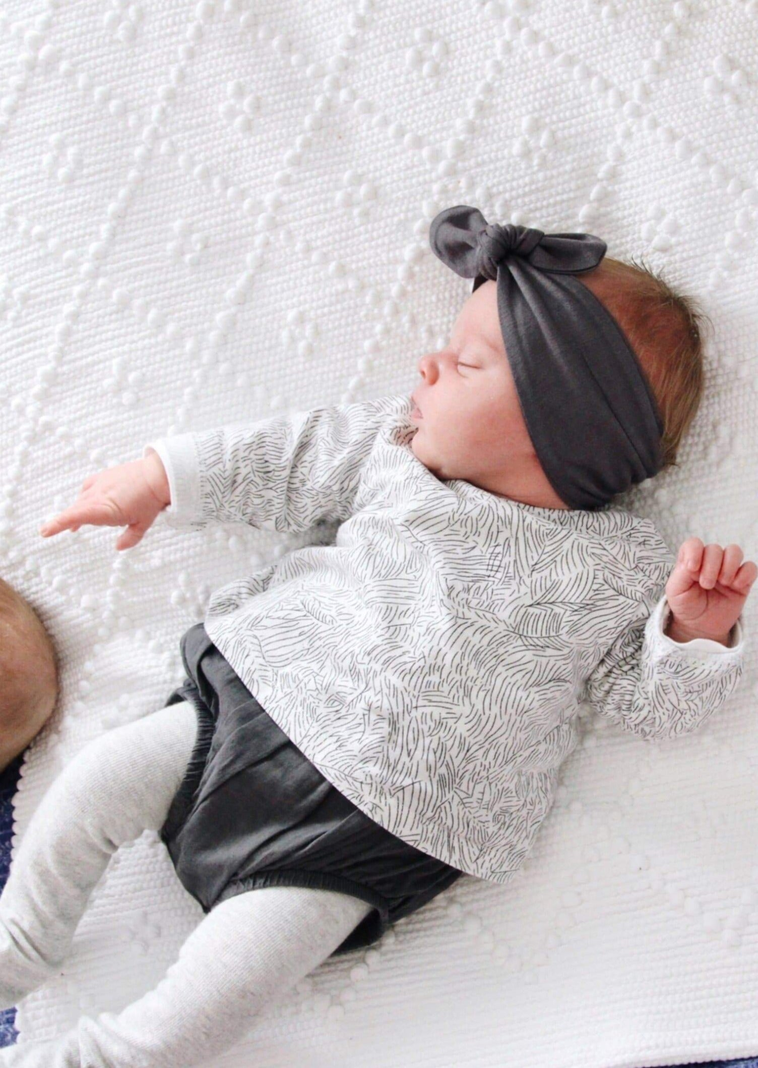 TOP KNOT HEADBAND CHARCOAL
