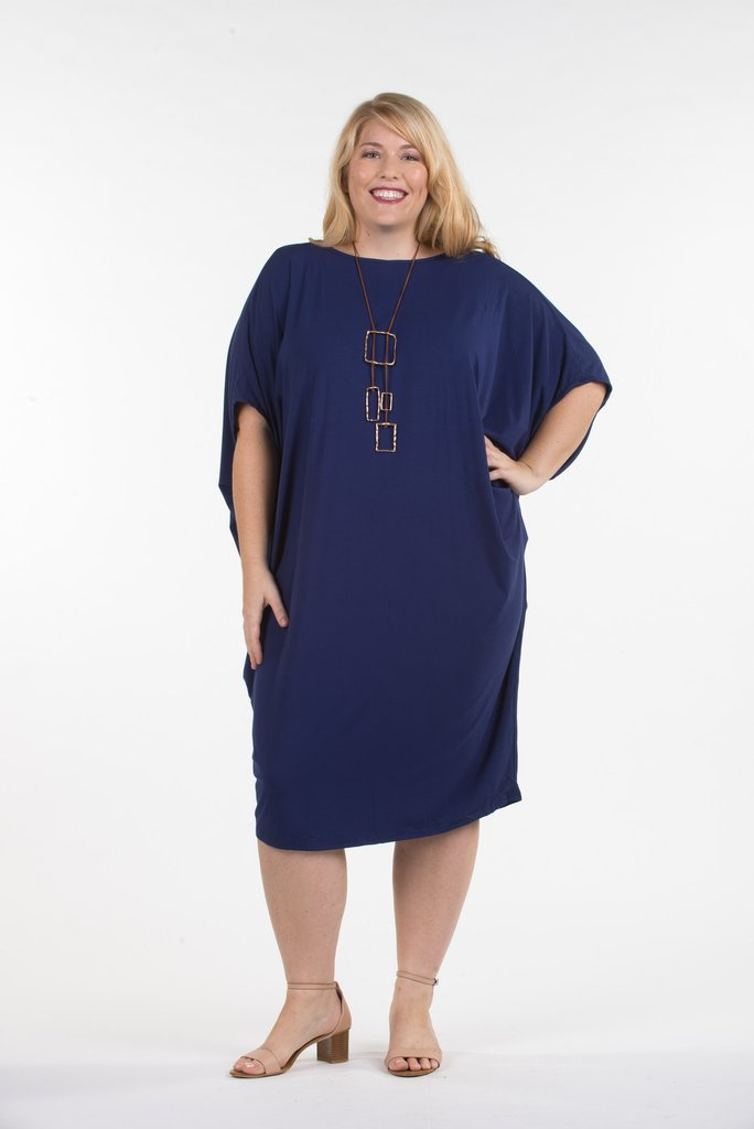 Miracle Dress CURVE - Navy