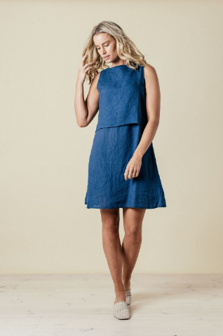Jilly Dress - Petrol Blue