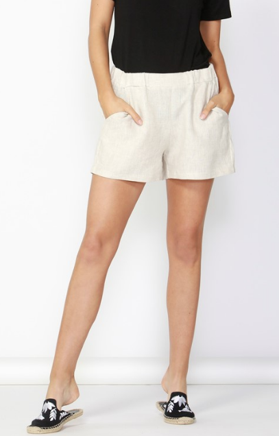 Jax Linen Short - Natural