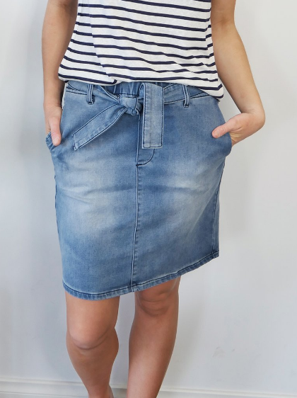 Archer Skirt - Dark Indigo