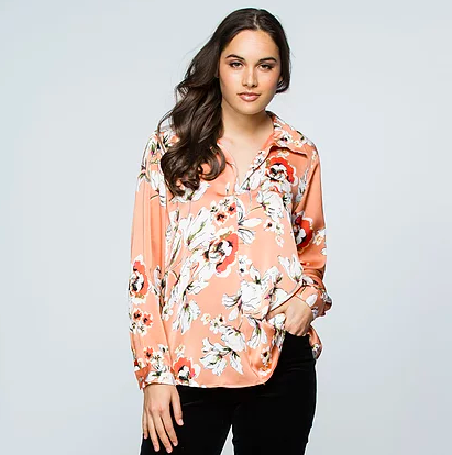 Sketchbook Floral Blouse