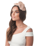Lottie Leaf Headband Fascinator - Blush
