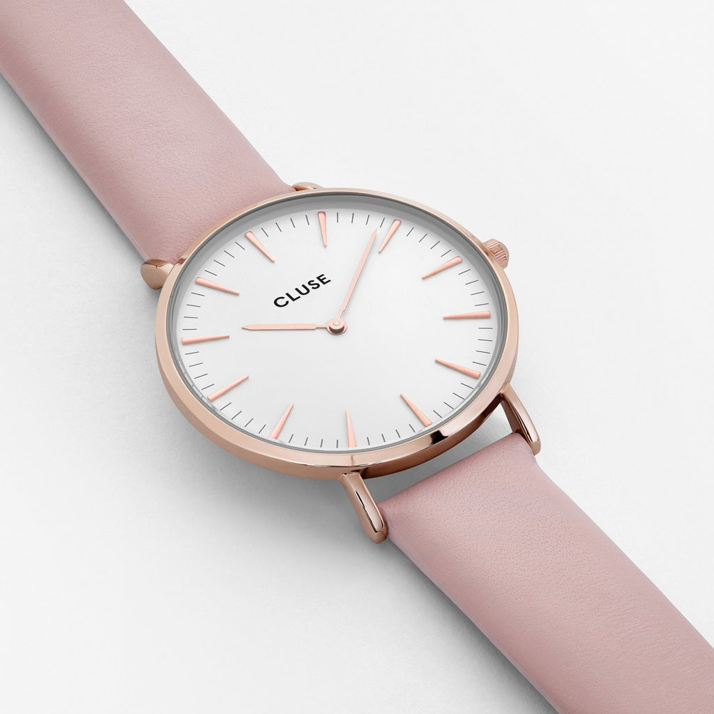 La Boheme Rose Gold White/Pink Watch