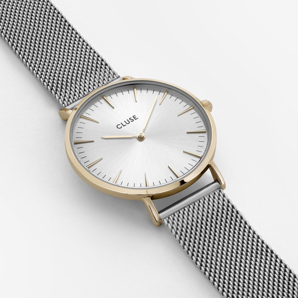 La Boheme Silver/Gold/White Watch