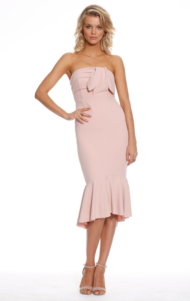Doll face Strapless Midi