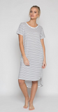 Daisy Dress - Black Stripe