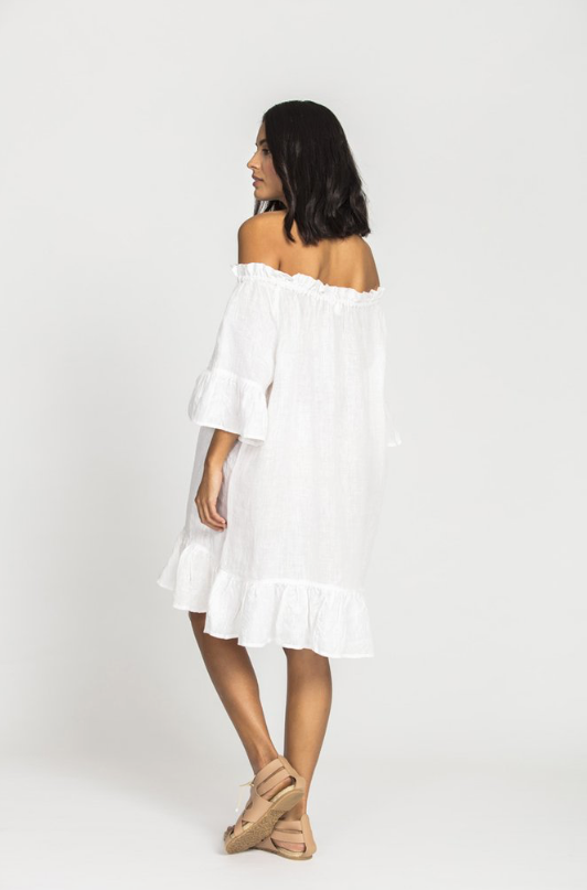 Nahla Linen OTS Dress