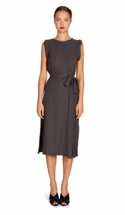 Rogue Angel Midi Dress - Charcoal