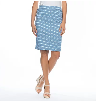 Mandy Spot Pull On Skirt - Blue
