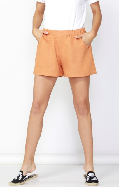 Jax Linen Short - Rust