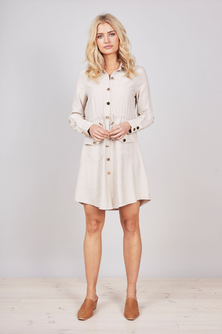 Allure Eyelet Dress - Khaki