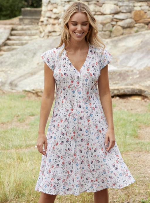 Dianna Dress - Ditsy Print