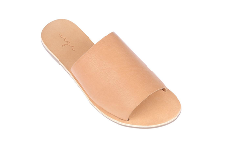 Gemma Leather Wedge - Tan