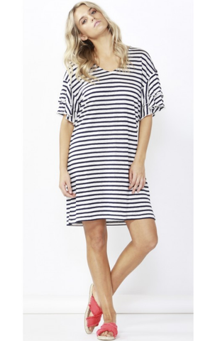 Patrice Wrap Dress - Navy